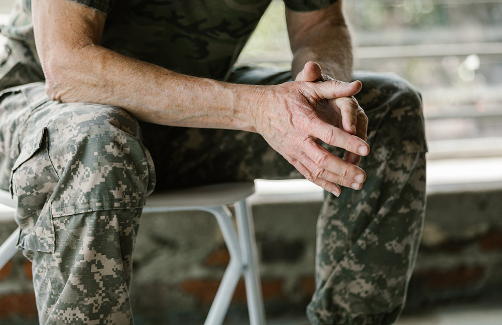 Military Person SItting